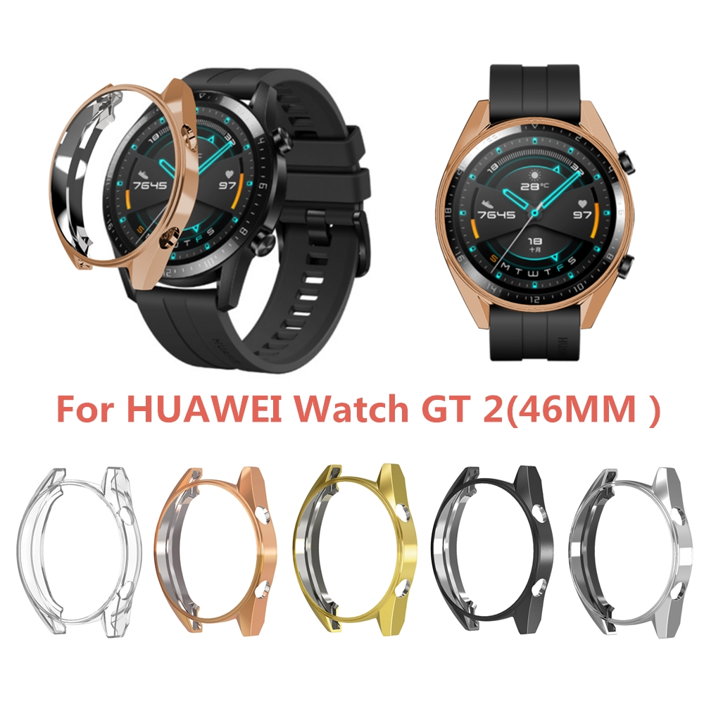 For Huawei GT/GT2 46mm Watch Case Watch Frame Protective Cover For Huawei GT/GT2 TPU Soft Watchcase Accessories Replaceable
