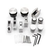 1Set Stainless Steel Frameless Sliding Shower Doors Roller Hardware set Cabin Hardware Glass Door Shower Room Bathroom