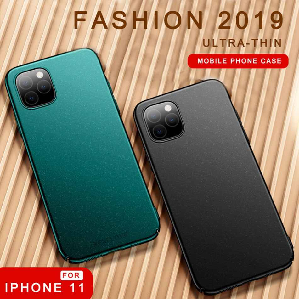 Matte Case Voor iPhone 6 7 8 Plus XS XR MAX Case ultradunne Hard Shell Shockproof Plastic Cover voor Apple iPhone 11 Pro Max Case