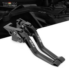 Dla Yamaha FZ8 2011-2015 2012 2013 2014 2015 akcesoria motocyklowe CNC krótkie dźwignie sprzęgła LOGO FZ8