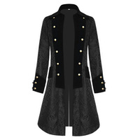 Middle Ages Steampunk Long Jacket Coat Men Halloween Cosplay Costumes Victorian Gothic Medieval Jacket Cardigan Kimono Coat
