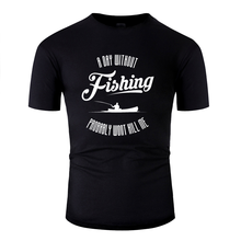 New Style fishing angler fish fishing fishing lake tshirt 2019 Letters men's t shirt cotton HipHop Top(China)