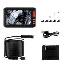 4,3 в эндоскопии камеры 1080P HD цветной экран 8 мм Эндоскопа Камеры IP67 Водонепроницаемый 8 регулируемый светодиодный Полужесткий Змеиный кабель-(5 м