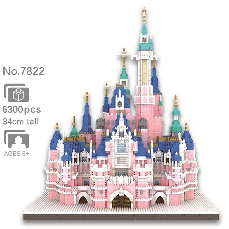 Bricks Toy Model Castle Building-Blocks Amusement Park Architecture Pink Children Gift