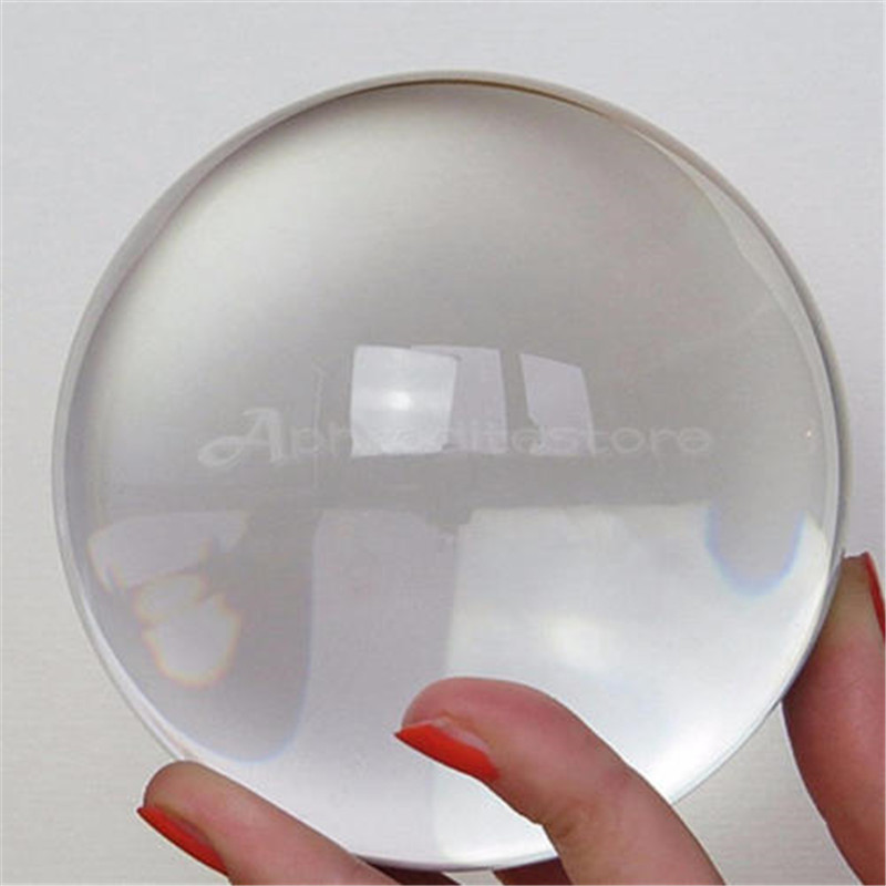 30-80 CM Clear Glass Crystal Ball Healing Sphere Photography Props Lensball Kristallkugel Creative Glass Decorative Balls