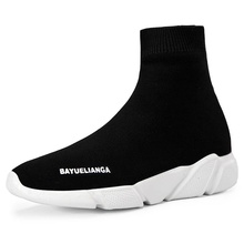 Unisex Socks Shoes Ankle Boots Men Jogging Sneakers High-Top Cushion Sports Running Shoes Breathable Soft Sole Outdoor Walking