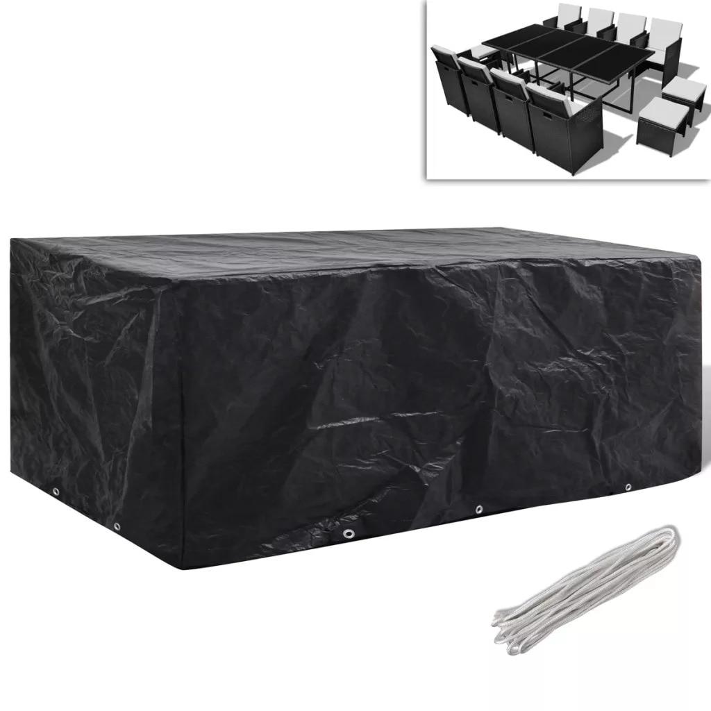 Vidaxl Garden Furniture Cover Poly Rattan Set 10 Eyelets For Rattan Table Cube Sofa Waterproof Garden Outdoor Protective Case