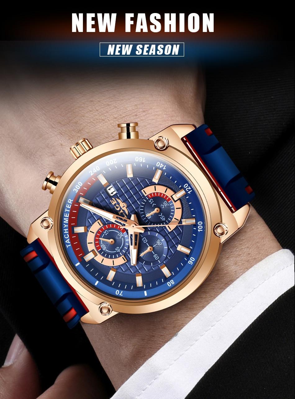 H39068d1d9c02450f902113768cbb247bS New Top Fashion Chronograph Quartz Men Watches LIGE Silicone Strap Date Wristwatch Clock Male Luminous Watch Relogio Masculino