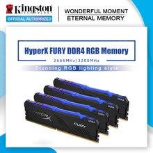 Kingston HyperX FURY DDR4 RGB Memoria 2666 MHz 3200MHz DDR4 CL15 DIMM XMP 8GB 16GB Memoria Ram ddr4 para escritorio Memoria Rams