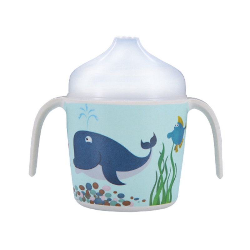 Kids Baby Cartoon Water Bottle Cup Baby Portable Feeding Bottles With Lid Durable Cup