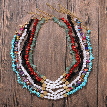 Bohemian Handmade Beads Resin Necklace Adjustable Ethnic Fashion Jewelry Accessories for Women Gifts Wedding Wholesale