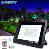 Floodlight Led RGB 100W 50W 30W Waterproof IP66 Led Spotlight Outdoor Lighting Landscape Lighting With Remote Control