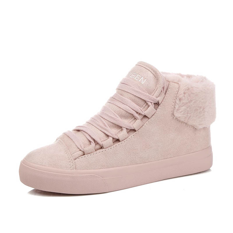Women Boots Winter 2019 Suede Outdoor Winter Feather Casual Shoes Durable Female Snow Boots Footwear zapotos mujer 48