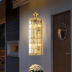 OutdoorLED copper Wall Lamp Porch Light Wall Sconce Square Outdoor Waterproof Wall Light Garden Lights Modern wall lights L067