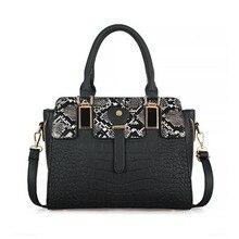 Fashion Black Handbag Snake Ladies Crossbody Bags For Women Luxury Handbags Wome