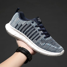 Breathable Mesh Sneakers Comfortable Men Casual Shoes Ultralight Sport Running Shoes Lace Up Walking Shoes Big Size Sneakers