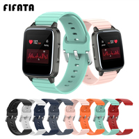 FIFATA-Correa de reloj para Xiaomi Haylou Solar LS01 LS02, correa de silicona blanda para reloj inteligente Haylou Solar LS02 / LS01