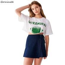 Germinate Vintage Crop Tops Women Summer Streetwear Tumblr Grunge Harajuku Aesthetic Friends Feminist Vegan Graphic T Shirts цена