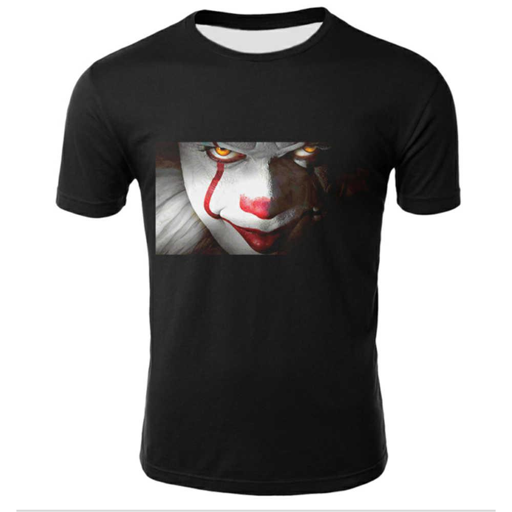 Grappig Gedrukt Mannen T-shirt Clown Print Casual T-shirt Zomer Mannelijke T-shirt Hip Hop Tops Tee Mens Korte Mouwen Mode Kleding
