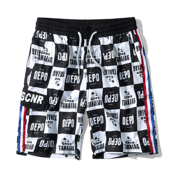 Beach Shorts Men Side Striped Quick Dry Comfortable Breathable 100% Cotton Surfing Running Shorts