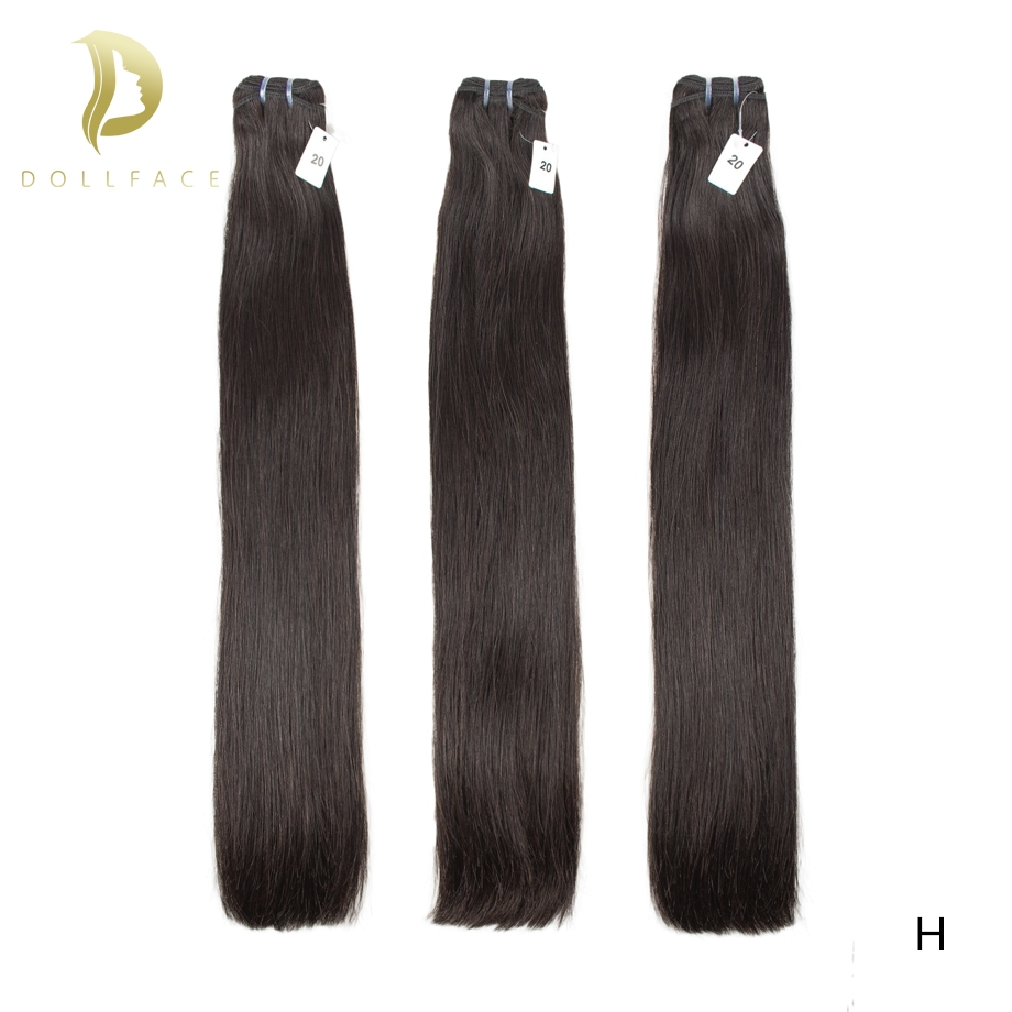 Virgin Double Drawn Hair Bundles Natural Color Straight Brazilian Hair Weave Bundles Human Hair Extension 8