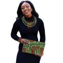 Conjunto de jóias africano holland wax print jewelry nigeriano casamento contas africano conjunto de jóias personalizado