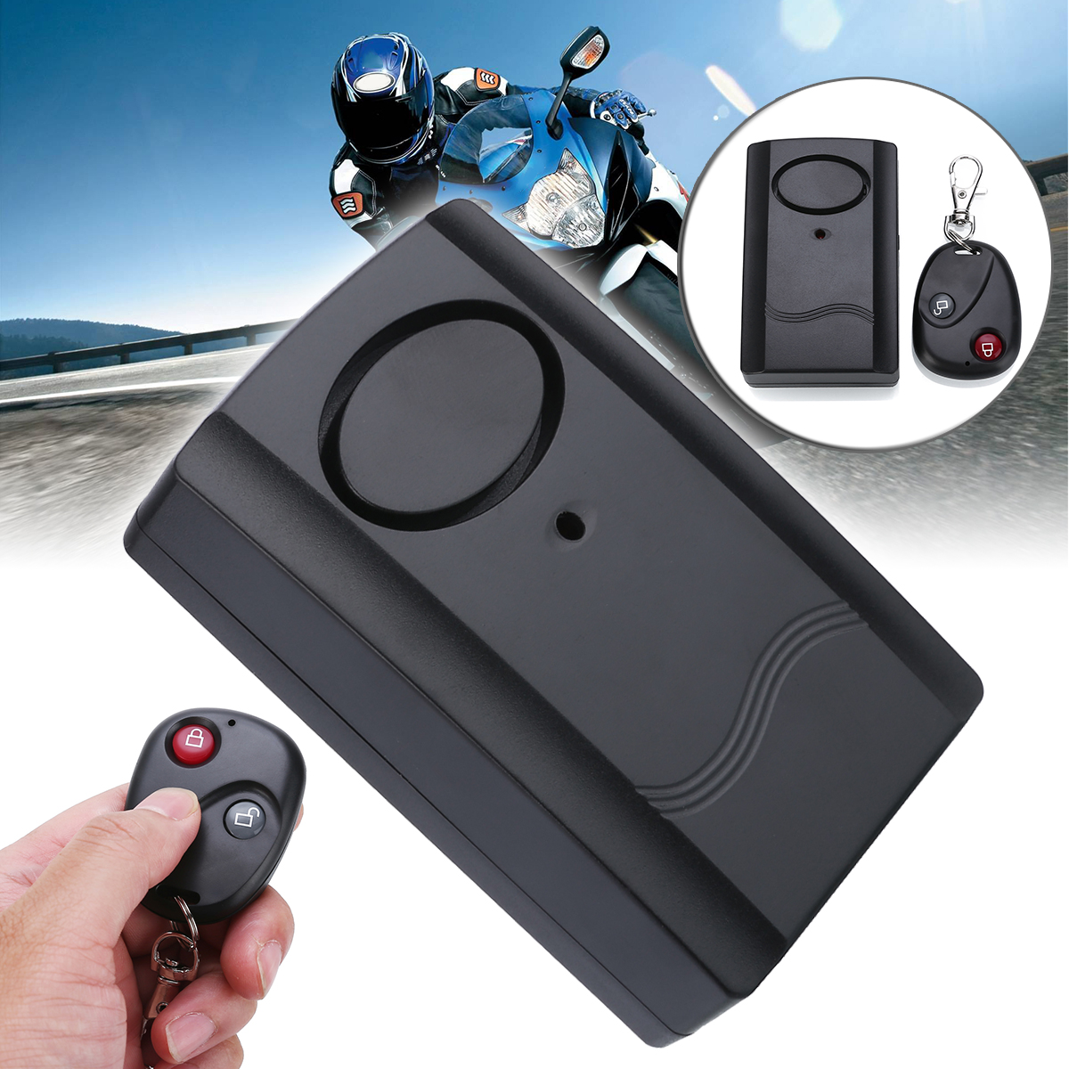 1set Motorcycle Security Alarm Lock Motorbike Anti-theft Security Safety Automotive Moto Alarm Remote System Protection
