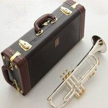 Stradivarius лучшее качество LT197S-99 труба B плоская Посеребренная профессиональная труба Музыкальные инструменты с Чехол