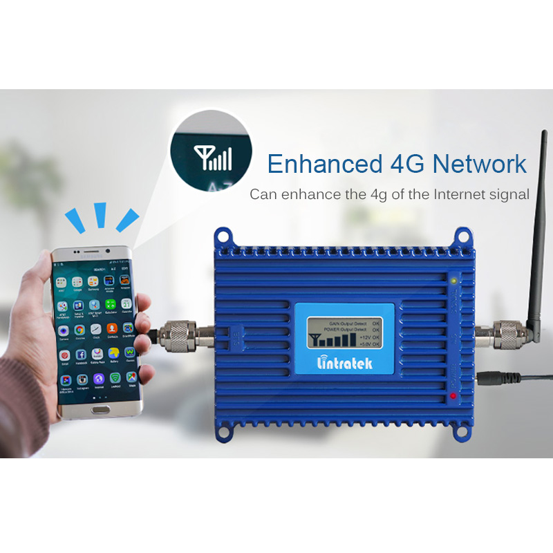 Lintratek 70dB AGC 3G Repeater 2100MHz Band 1 UMTS Mobile Signal - Reservdelar och tillbehör för mobiltelefoner - Foto 5