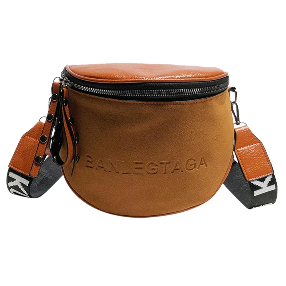 Crossbody Bag For Women Messenger Bags Casual PU Leather Shoulder Bag Female Fashion Famous Brand Lady Semicircle Saddle Bags