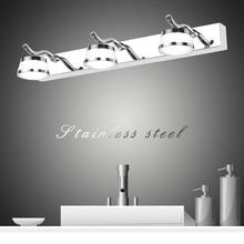 Zerouno bathroom lamp Stainless Steel Mirror Light Room Vanity wall light led Acryl Lampshade Indoor waterproof Wall Lighting