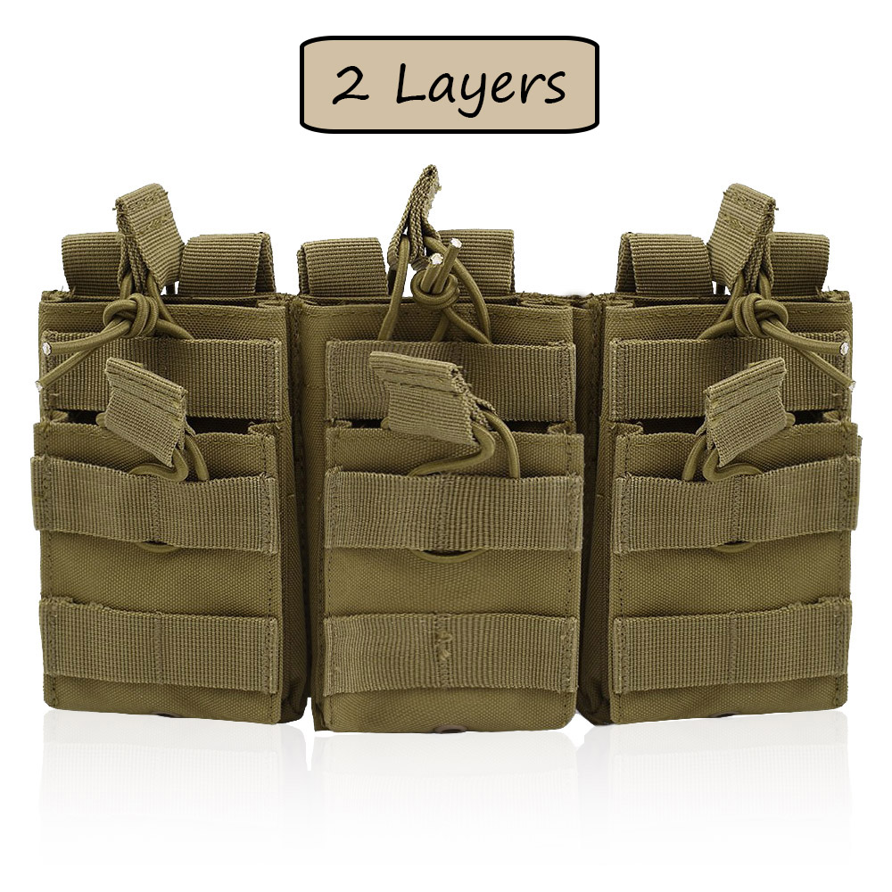 New Tactical Molle Magazine Pouch Double-Layer Triple Paintball Equipment Hunting Accessories Universal Mag Bag Cartridge Pouch