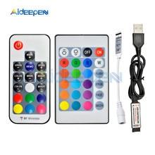 цена на 5V 12V LED RGB IR RF Remote Dimmer Controller 5V 12V USB LED SDM3528 Strip Light 3 Key 17 Key 24 Key Led RGB Wireless Controller