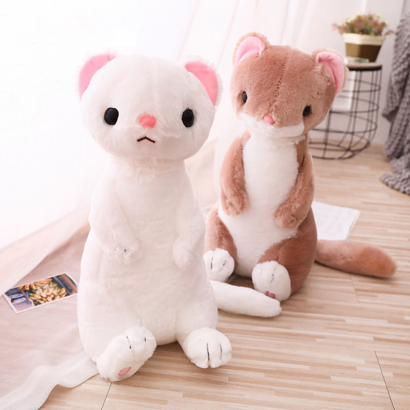 Creative Ferret Stuffed Doll Simulation Animal Toy Soft Sitting Ferrets Forest Animal Plush Toys Kids Dolls Plush Cat Toy Gift