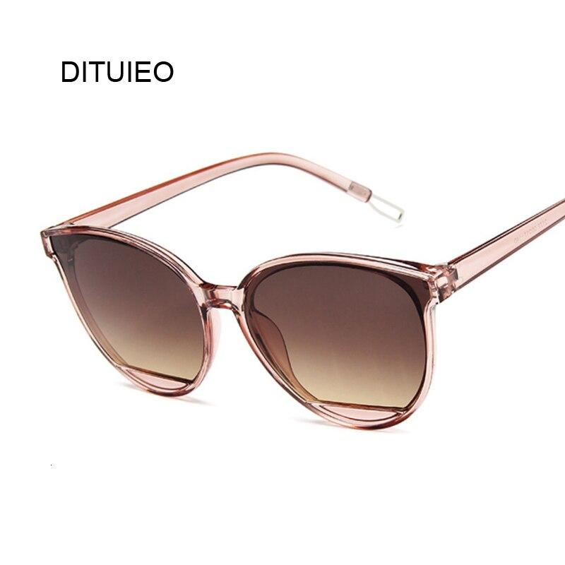 Nuevas gafas de sol clásicas ovaladas y rojas para mujer, gafas de sol tipo ojo de gato UV400 de marca de plástico de lujo para mujer
