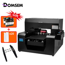 DOMSEM Multifunct UV Drucker Zylinder Flasche Drucker A3 Uv flachbettdruckmaschine Für Telefon Fall Foto Farbe Machin Für Druck
