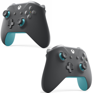 Image 2 - Original FULL SHELL Housing Replacement + LBRB Thumbstick Buttons for Xbox One Controller 1708 Grey/Blue Phantom Special Edition