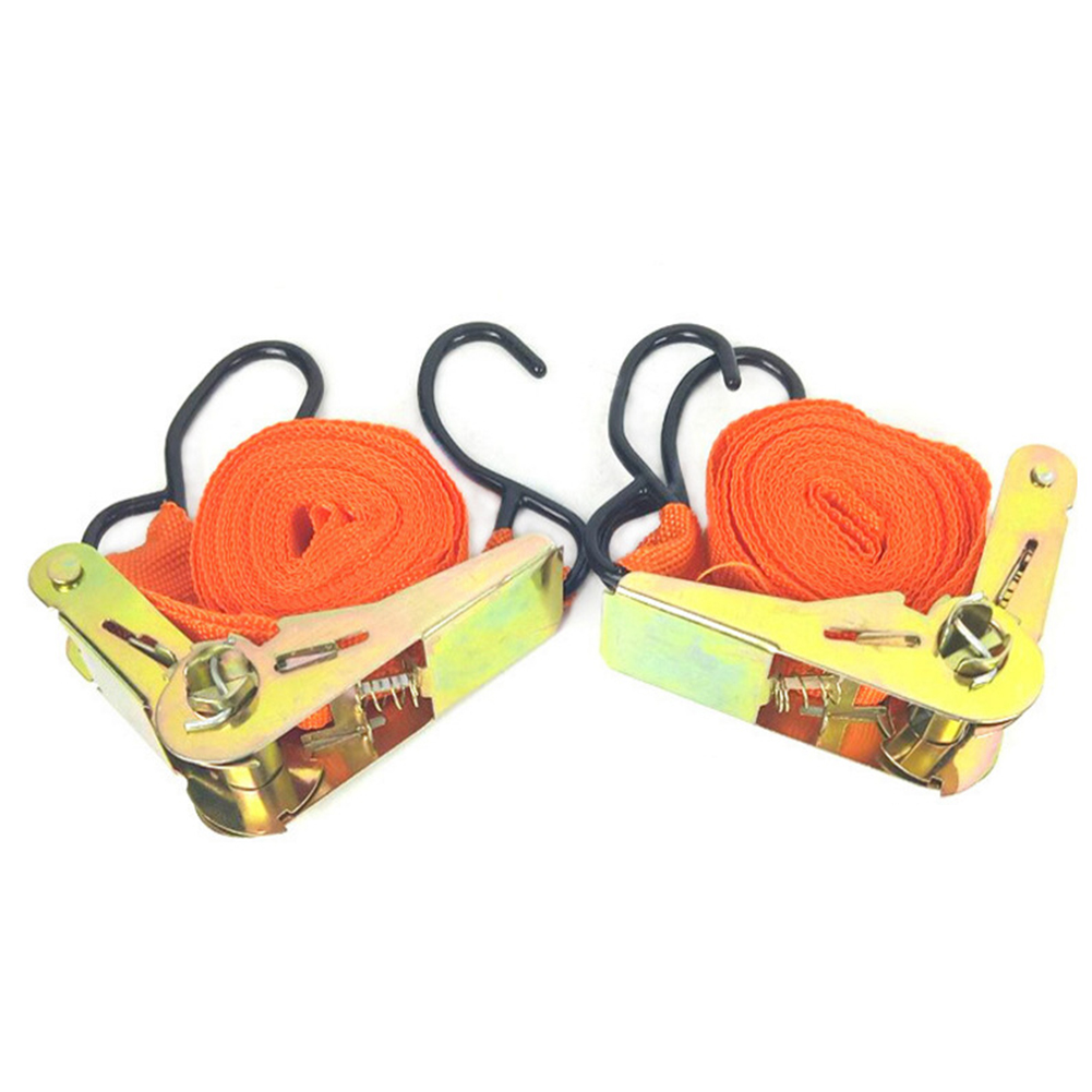 2PCS Bike Tie Down Belt Tow Truck Luggage Strong Bag Transport Equipment Lashing Tension Rope Ratchet Strap Motorcycle Car Cargo in Tensioning Belts from Automobiles Motorcycles