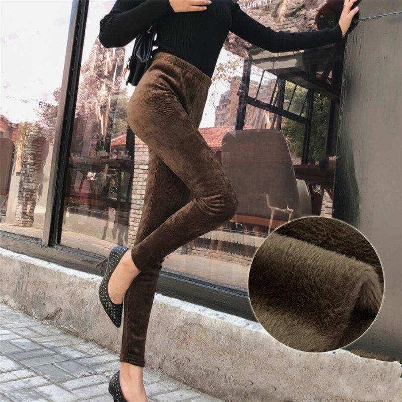 YRRETY Autumn Winter Velvet Leggings Women High Waist Thread Bar Stripes Sporting Fitness Leggings Pants Warm Thick Leggings