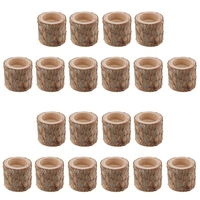 20Pcs Raw Tree Stump Candle Holder Tealight Holder Stand for Wedding Party Decoration