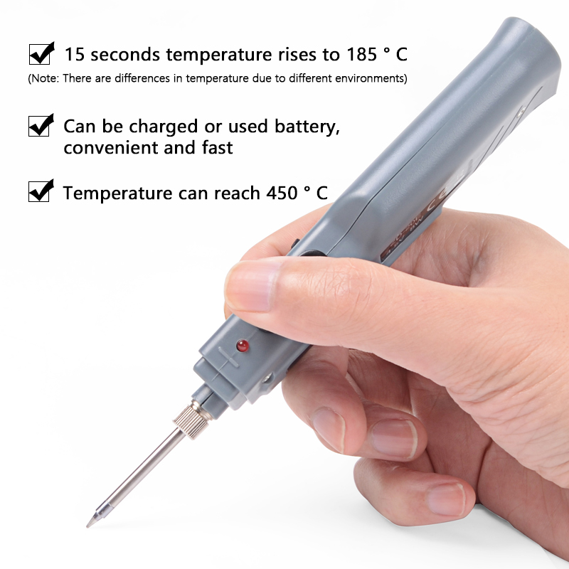 Image 3 - Handskit 4.5V 8W Battery Powered Soldering Iron with Usb Charge Soldering Iron with Soldering Wire Wireless Charging Solder Iron-in Electric Soldering Irons from Tools