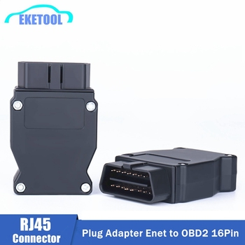 OBD2 16Pin For BMW Connector OBD Plug Adapter For BMW Enet Ethernet ESYS iCOM Coding For BMW Car Connector Diagnostic Tool image