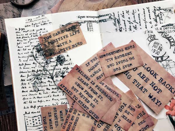 17 adet/paket Vintage Memo harfler Vellum kağıt Sticker DIY zanaat Scrapbooking albümü hurda dergi planlayıcısı dekoratif çıkartmalar