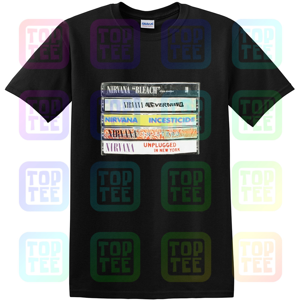 New Nirvana Album Cassettes Mens Vintage T-Shirt Streetwear Size S-3Xl