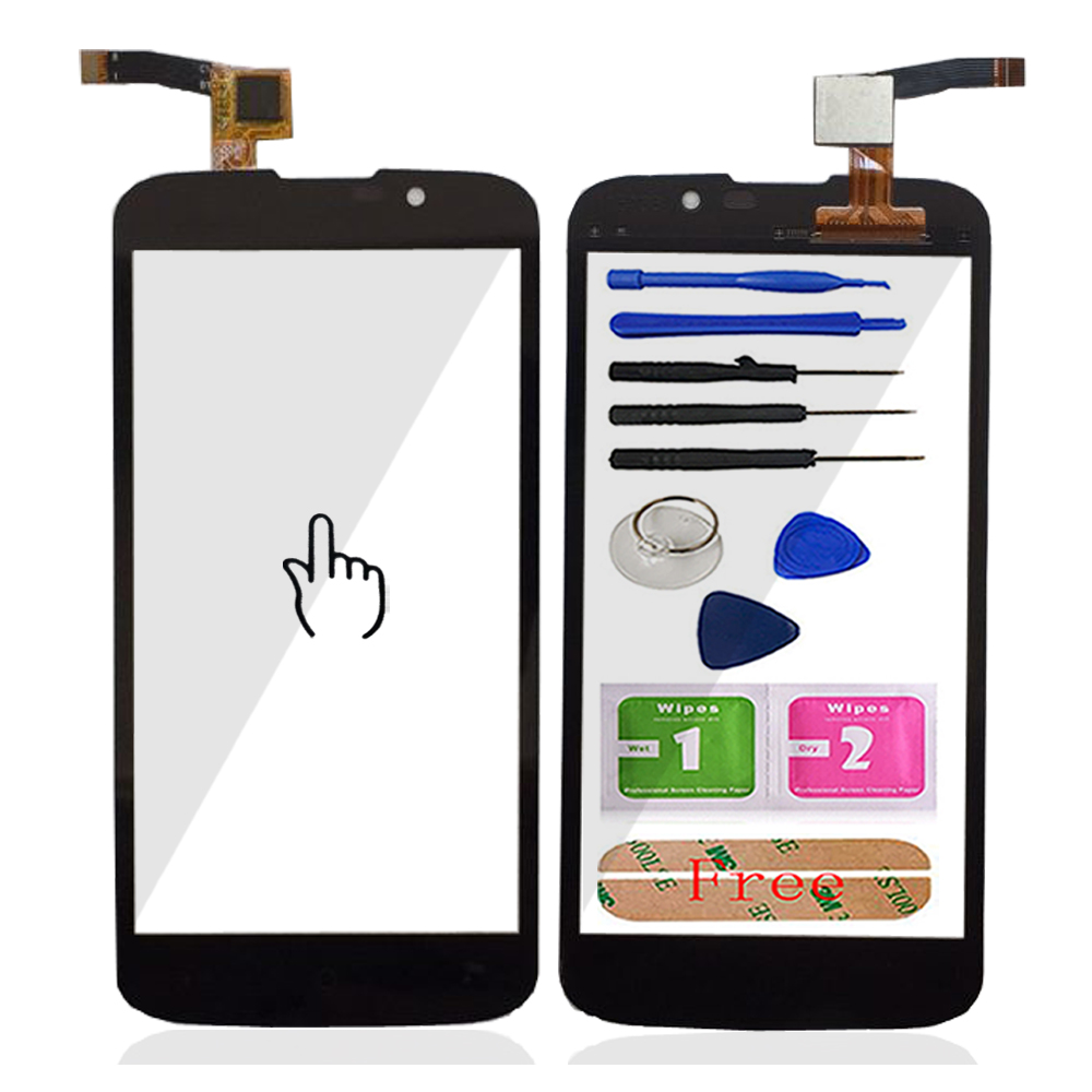 Touch Screen For Highscreen Omega Prime Mini Touch Screen Glass Front Outer Glass Digitizer Panel Lens Sensor 4.3'' Mobile Cable