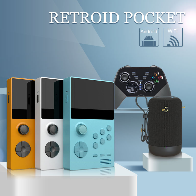 Retroid Pocket-3.5inch Handheld Retro Gaming Video Game Console/Dual Boot Open Android System+Wireless Gamepad+Bluetooth Speaker