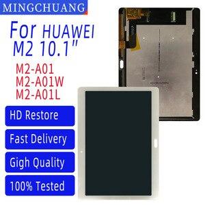 Para huawei mediapad m2 10.0 10.1 Polegada M2-A01L M2-A01W M2-A01 display lcd e com tela de toque digitador assembléia