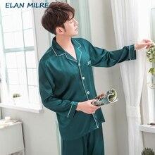 2020 New Autumn Sleepwear Male Pajama Set Soft Nightgown For Men Pyjamas