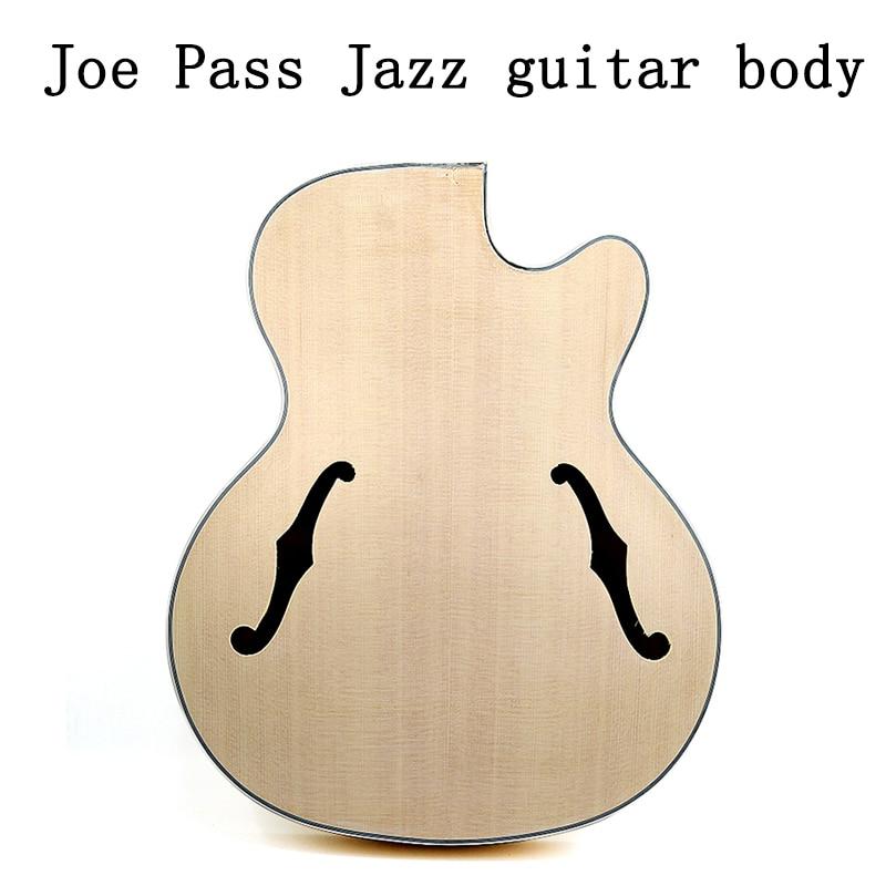 Joe Pass jazz guitar body sound barrel maple wood back spruce panel composite splint
