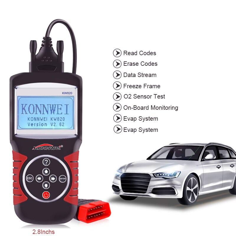 Диагностический сканер OBD2 для VW/Ford/Nissan/Benz/BMW/Honda/Toyota/KIA EOBD, диагностический инструмент OBDII, считыватель кодов в реальном времени и сканер